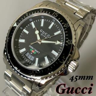 Gucci - 【新品】グッチ GUCCI DIVE ダイブ ブラックダイヤル メンズ腕時計