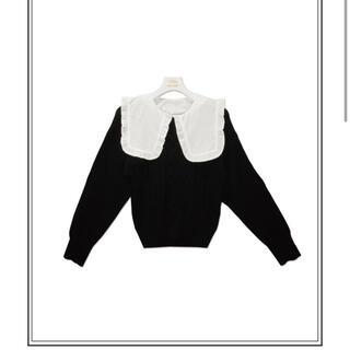 ZARA - ミロアミュレット detachable collar knit set