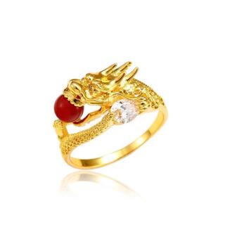 龍神 ドラゴン ゴールド リング 指輪 大きいサイズ ジルコニア  (リング(指輪))
