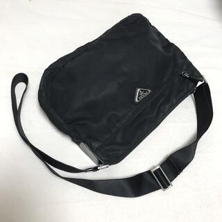 PRADA - PRADA プラダ ショルダーバッグ ブラック 三角プレート 白タグ160