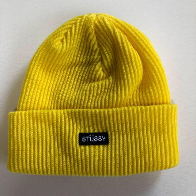 STUSSY(ステューシー)の【美品】stussy ニット帽 ビーニー キャップ メンズの帽子(ニット帽/ビーニー)の商品写真