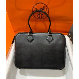 エルメス(Hermes)の希少 数回 定126万品  エルメス プリュム28 エプソン SV金具 ブラック(ハンドバッグ)