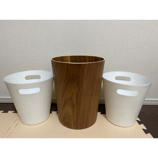 ニトリ(ニトリ)の【ニトリ】木製+PP製ダストボックス【計3個セット】(ごみ箱)