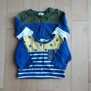 ブランシェス(Branshes)のねこのしっぽ様専用☆2枚セット☆ブランシェス 七分丈 90cm(Tシャツ/カットソー)