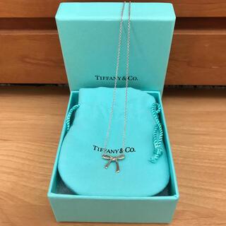 ティファニー(Tiffany & Co.)のティファニー ボウ リボン ペンダント ネックレス シルバー(ネックレス)