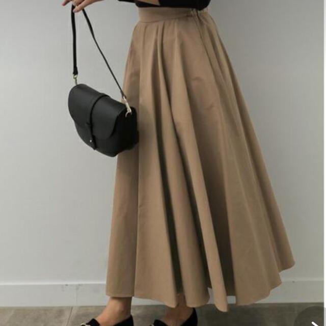 DOORS / URBAN RESEARCH(ドアーズ)のアーバンリサーチ ドアーズ コットンナイロンフレア ロングスカート マキシ レディースのスカート(ロングスカート)の商品写真