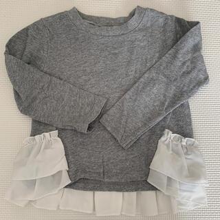 petit main - プティマイン 100 裾フリルカットソー
