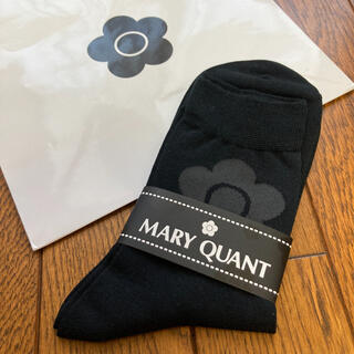 マリークワント(MARY QUANT)の新品 マリークワント 靴下 黒 ソックス 完売品(ソックス)
