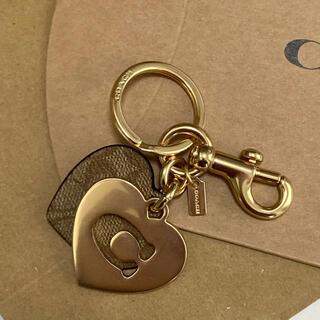 コーチ(COACH)の紙袋&BOX付き 新品 コーチ ハート 人気 キーリング キーホルダー(キーホルダー)