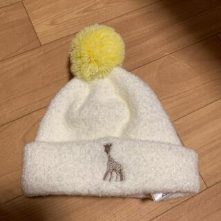 センスオブワンダー(sense of wonder)のキリンのソフィ マシュマロボンボンキャップ ベビー帽子(その他)