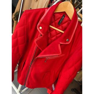 グラム(glamb)のglamb ライダース RED 芸能人着用(ライダースジャケット)