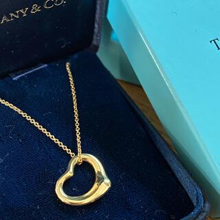 ティファニー(Tiffany & Co.)のティファニー オープンハートk18ペンダント(ネックレス)