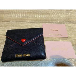 miumiu - miumiu MADRAS LOVE マドラスレザー財布
