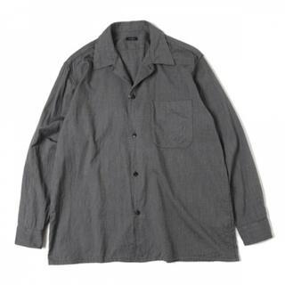 COMOLI - COMOLI(コモリ)ヨリ杢 オープンカラーシャツ