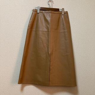 ナラカミーチェ(NARACAMICIE)のナラカミーチェ レザー前スリットスカート(ひざ丈スカート)