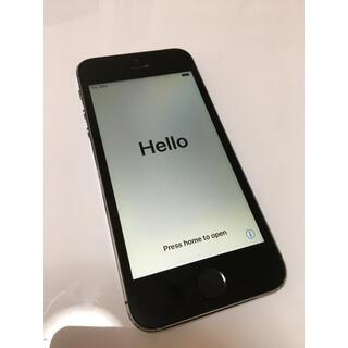 アップル(Apple)の中古 iPhone 5S 16GB 本体のみ スペースグレー(スマートフォン本体)
