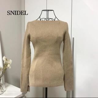 snidel - 【美品】 SNIDEL スナイデル シンプルリブニット