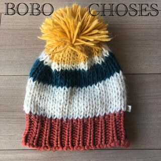ボボチョース(bobo chose)のBOBO CHOSES ボンボンニット帽 4-5years(帽子)