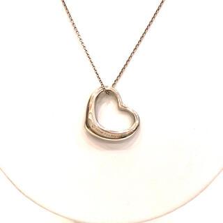 ティファニー(Tiffany & Co.)の3424 TIFFANY ティファニー ネックレス オープンハート SV 925(ネックレス)