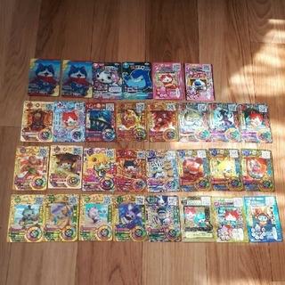 バンダイ(BANDAI)の妖怪ウォッチ   うきうきぺディアカード フユニヤン3Dカード レア 30枚セッ(キャラクターグッズ)