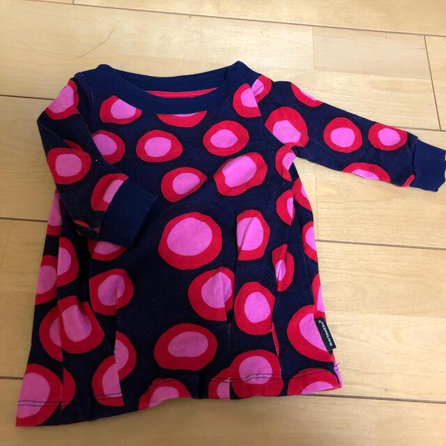 marimekko(マリメッコ)のマリメッコ 80cm 双子の女の子用 キッズ/ベビー/マタニティのベビー服(~85cm)(シャツ/カットソー)の商品写真