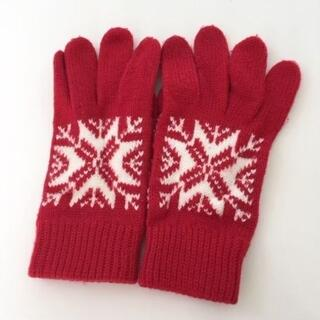 アナップ(ANAP)のANAP購入♡ノルディック柄手袋♡五本指♡赤ニット♡アナップ♡(手袋)
