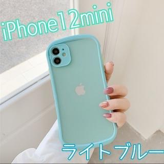 大人気★ ケース バンパースマホケース iPhone12mini ライトブルー(iPhoneケース)