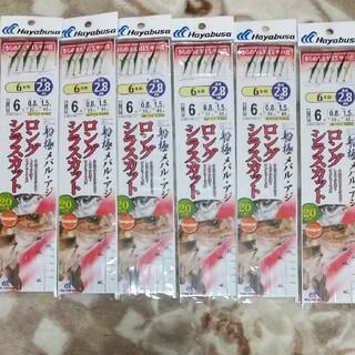 ハヤブサ サビキ仕掛け 6個セット(釣り糸/ライン)