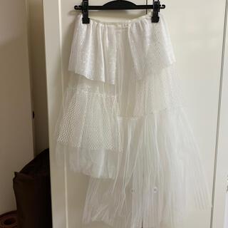 ハニーミーハニー(Honey mi Honey)のチュールスカート(ひざ丈スカート)