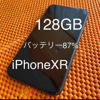 アイフォーン(iPhone)の超美品 iPhone XR 128GB SIMフリー BLACK 黒 ブラック(スマートフォン本体)