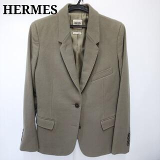エルメス(Hermes)のHERMES エルメス レディース ジャケット 毛 絹 MJ046(テーラードジャケット)