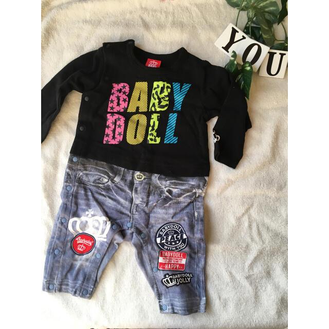 BABYDOLL(ベビードール)のBABYDOLLロンパース キッズ/ベビー/マタニティのベビー服(~85cm)(ロンパース)の商品写真