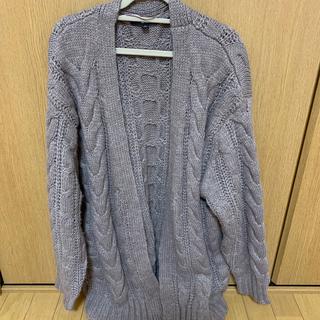 ユニクロ(UNIQLO)のユニクロ かぎ編みカーディガン ブラウン くすみカラー  (カーディガン)