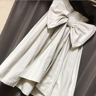 ダブルスタンダードクロージング(DOUBLE STANDARD CLOTHING)のダブルスタンダードウエストリボンフレアスカート(ひざ丈スカート)