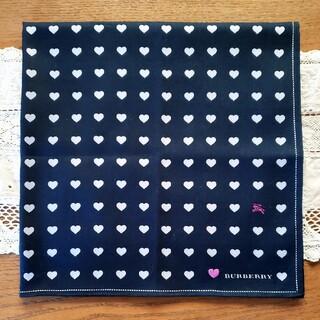 BURBERRY - BURBERRY バーバリー ハンカチ ハート刺繍 新品