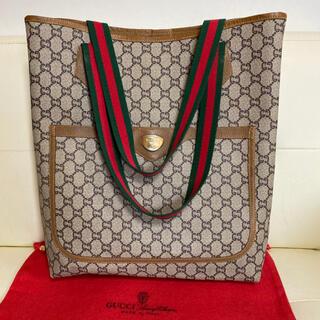 Gucci - 極 美品 GUCCI オールド グッチ シェリーライン トート バッグ 綺麗
