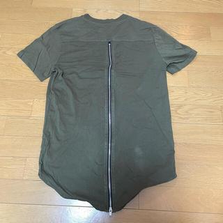 H&M - 背中ファスナー Tシャツ 背中ジップ ジッパーTシャツ カーキ