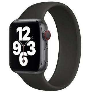 Apple Watch ソロループ 42/44mm Lサイズ ブラック(ラバーベルト)
