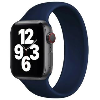 Apple Watch ソロループ 42/44mm Lサイズ ディープブルー(ラバーベルト)