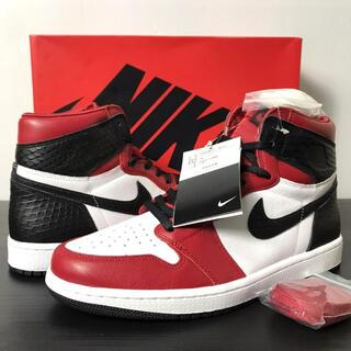 NIKE WMNS AIR JORDAN 1 HIGH SATIN RED 27(スニーカー)