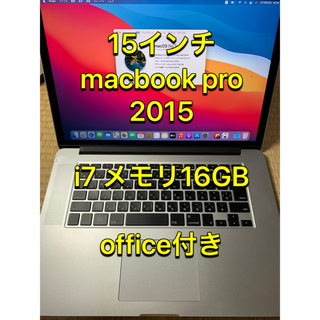 Mac (Apple) - 15インチmacbook retina i7 office win10付き