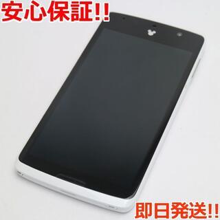 アンドロイド(ANDROID)の美品 N-03E ホワイト 白ロム(スマートフォン本体)