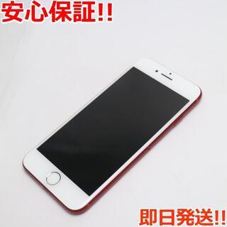 アイフォーン(iPhone)の美品 SIMフリー iPhone7 256GB レッド (スマートフォン本体)