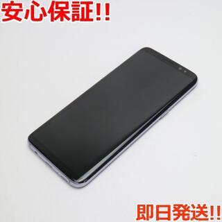 ギャラクシー(Galaxy)の美品 SIMロック解除済 SC-02J Galaxy S8 グレイ 白ロム(スマートフォン本体)
