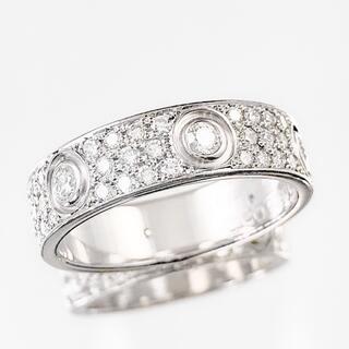 カルティエ(Cartier)の【仕上済】カルティエ ラブリング 13号 フルパヴェ&6Pダイヤ 指輪 リング(リング(指輪))