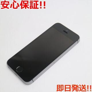 アイフォーン(iPhone)の美品 SIMフリー iPhoneSE 16GB スペースグレイ (スマートフォン本体)