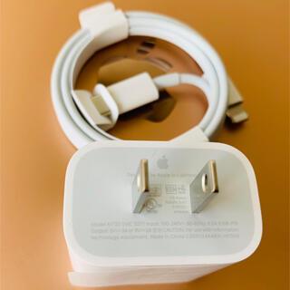 アイフォーン(iPhone)のAppleアップル18wの純正USBーC充電ケーブル(バッテリー/充電器)