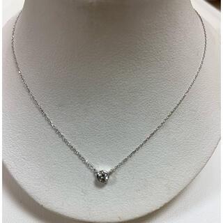 K18ホワイトゴールド 天然ダイヤモンドネックレス
