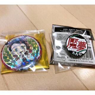 鬼滅の刃 魘夢 ヘッドマーク風ランダムピンバッジ クリスマス缶バッジ ホロ (キャラクターグッズ)