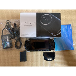 PlayStation Portable - ★美品 動作良好 PSP3000 ピアノブラック 純正バッテリー 充電器付き★